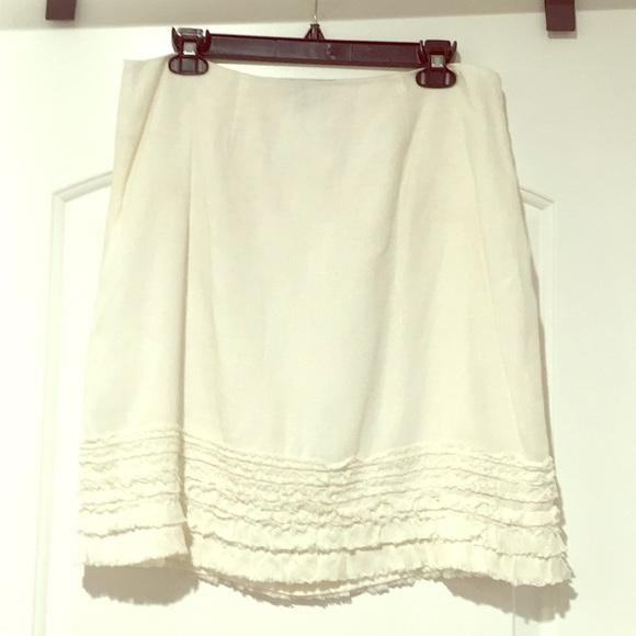 92930e1d55e Tommy Bahama white linen side-zip skirt! M 5acad06c8af1c5cae9351faf